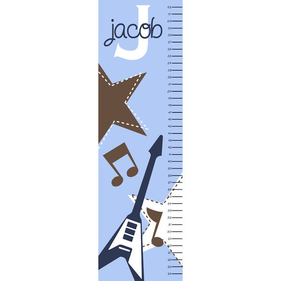 Canvas Growth Chart Personalized Rock 'N Roll
