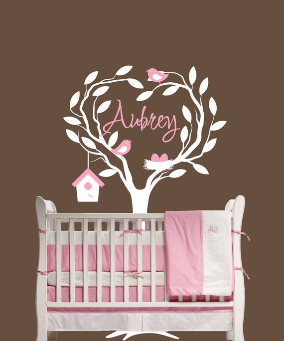 Children Wall Decal Nursery Personalized with Name  Decor Removable Vinyl Wall Sticker Baby Decor Children Tree Decal