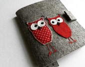Notebook, Document Portfolio,  with happy love owl (without notepad and pens)