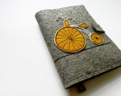Notebook, Document Portfolio,  with yellow bicycle (without notepad and pens) READY ON SHIPPING