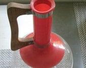 Vintage Red Pyrex Flask