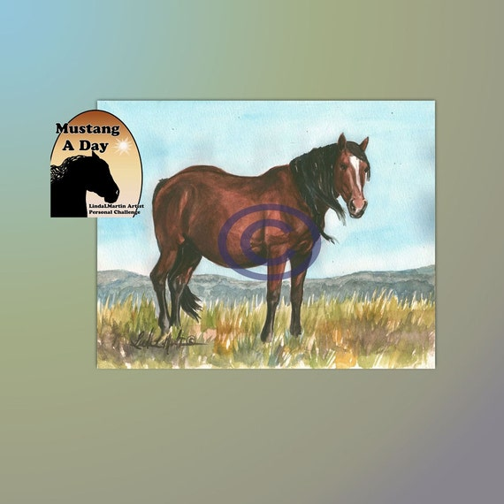 Picasso Mare Olga Mustang A Day Challenge painting 29