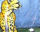ACEO - Rainy Cheetah