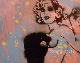 Black Eyed Betty 2ft.x2ft. painting on wood