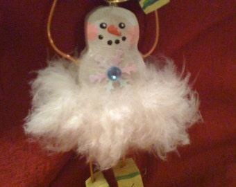 Snow Ballerina Wood Angel