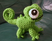 Pascal the Chameleon Crocheted Plushie - RESERVED
