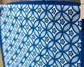 Handprinted Fabric - Shippo design in ivory