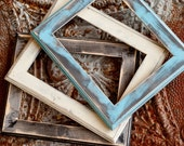 Reserved for Rebecca.. 15.5 x 21.5 NATURAL pine wood distressed picture frame with rustic routered edge - black...handmade