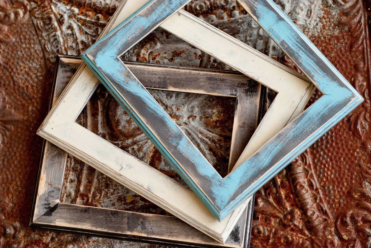 8x10 Natural Pine Wood Distressed Picture Frame With Rustic