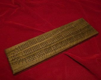 Cribbage Board 4 Player Walnut made by disabled veteran - Price Reduced!