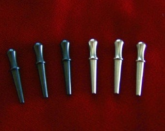 6 SOLID METAL Cribbage Board Pegs