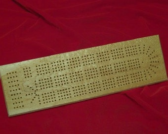 Cribbage Board 4 Player Rare Birdseye Maple made by disabled veteran - Price Reduced