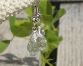 Green Amethyst Earrings. Sterling Silver Amethyst Earrings. Dangle Earrings. Gemstone Earrings