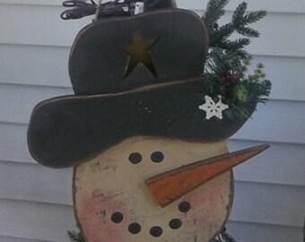 Lighted Snowman Birdhouse