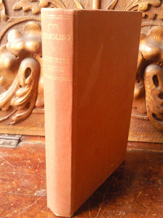 Vintage First Edition Book 'The Foundling' Georgette Heyer 1948 Historical Romance Terracotta Coloured Cover