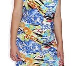 Women's Tropical Print Short Summer Dress for the Larger Gal