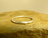 Hand Pierced Silver Stacking Ring