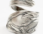Ode to Corn, Sterling Silver Spoon Ring, Made in YOUR Size (780)