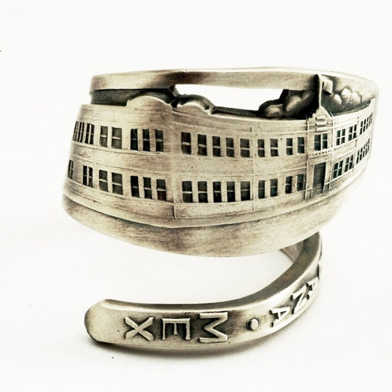 Spoon Ring Vintage Tijuana Mexico Souvenir Sterling Silver, Handmade in Your Size (1372)