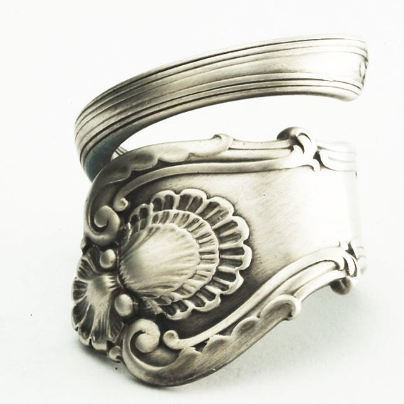 Spoon Ring Unique Victorian Organic Scroll Sterling Silver, Handmade in Your Size (2066)