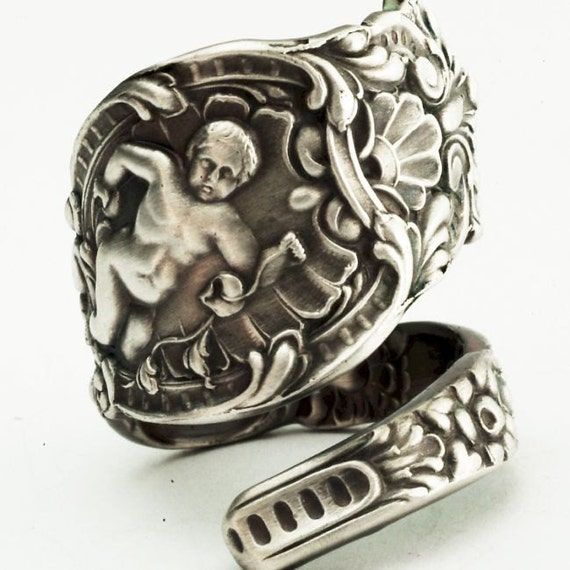 Spoon Ring Vintage Wendell Ariel Angel Sterling Silver Spoon Ring, Handcrafted in Your Size (2274)
