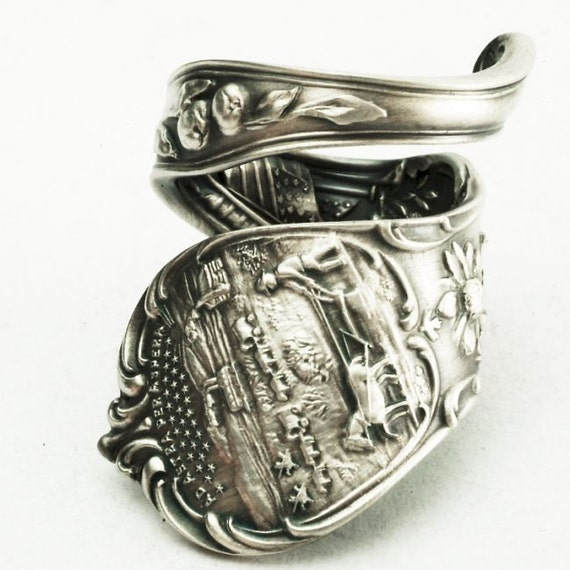 Spoon Ring Kansas Corn Souvenir Sterling Silver Ring, Made in Your Size (2189)