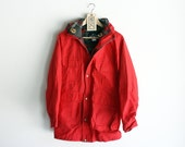 Vintage Woolrich Bright Red 60/40 Wool-Lined Parka