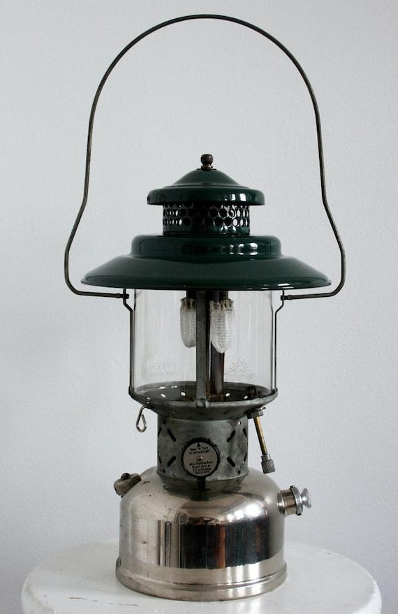 Green Nickel Coleman Double Mantle Lantern 1949