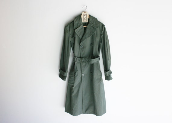 Vintage US Army Green Overcoat
