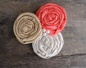 Mothers Day Corsage Coral Gold Beige