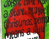Grinch Christmas Quote on 16x20 Canvas