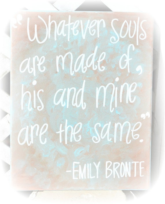 CLEARANCE Soul Mate Love Quote on 11x14 Canvas
