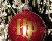 Custom Harry Potter Glitter Christmas Ornament