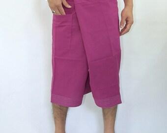 100% cotton thai fishermanpants handmade by my mum short 3/4 legs style 010S