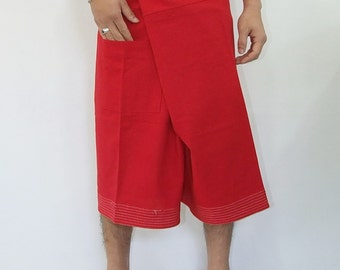 100% cotton thai fishermanpants handmade by my mum short 3/4 legs style 017S