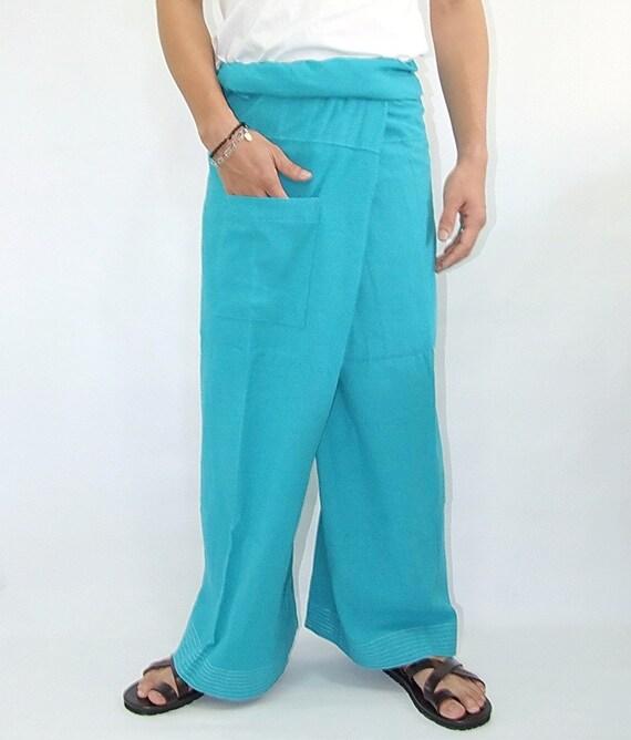 100% cotton thai fishermanpants handmade by my mum long legs style 007