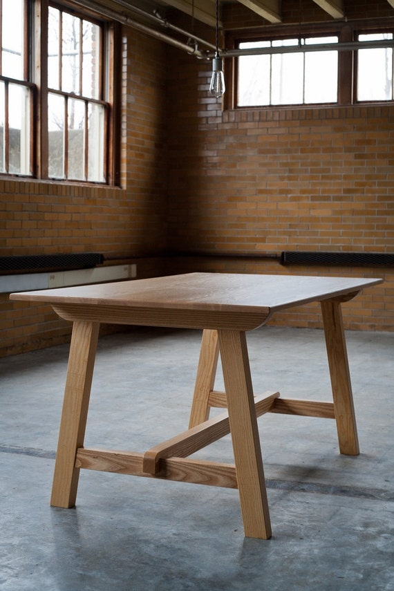 items similar to craftsman solid ash dining table on etsy