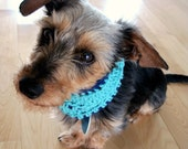 Extra Small Doggie Snood - Navy and Sage