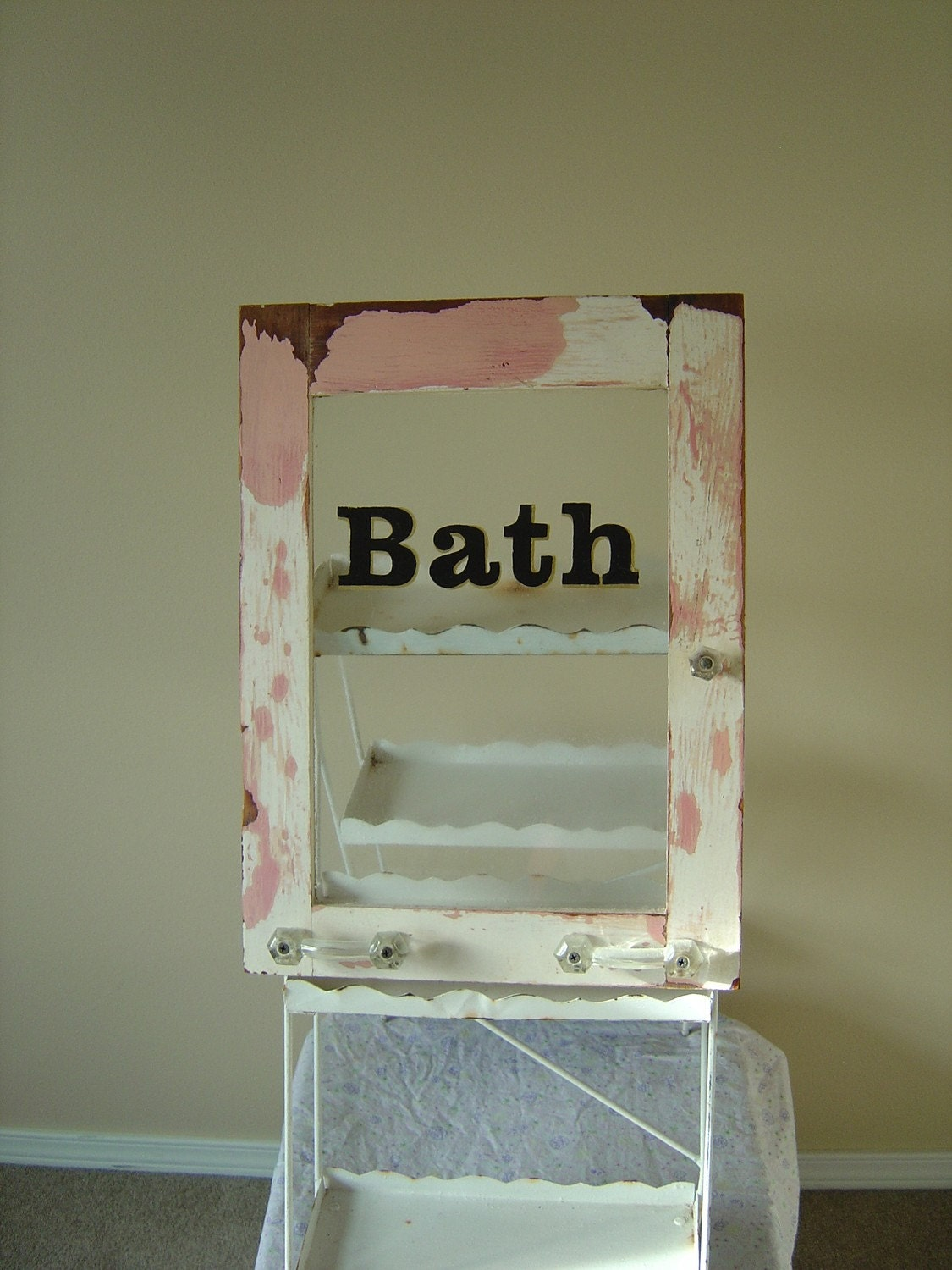 Excuse Me Where 39 S The Shabby Chic Bath Sign