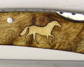 Browning custom Horse Inlay Pocket knife