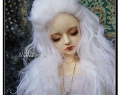 """10in"""" Long White Mohair Wavy Wig for Volks BJD SD Dolls"""