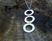 925 silver 3 washers pendant