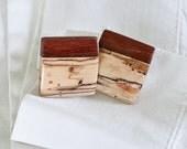 CUFFLINKS brazilian oak and spalted birch handmade