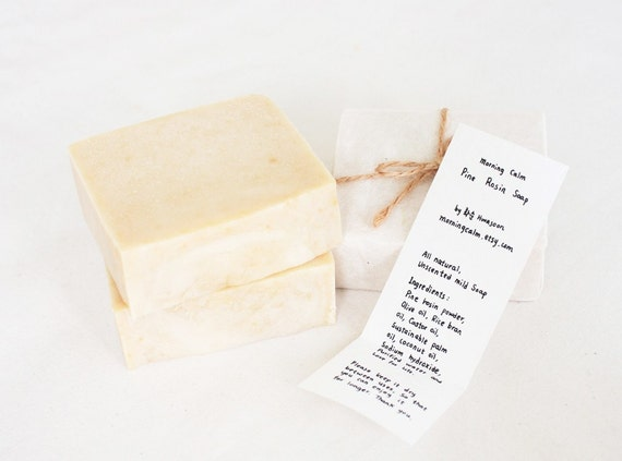Pine Rosin Soap, All Natural & Unscented