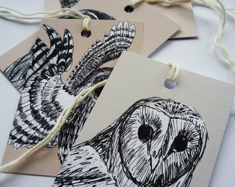 Owl Gift Tags Set of Five