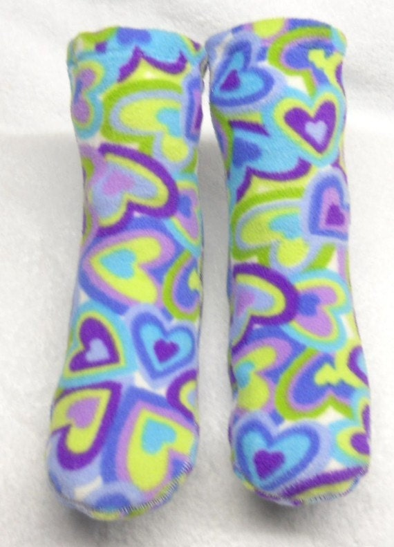 Everywhere Hearts  Women's and Children's Polar Fleece Socks--By QUANTA SOXS
