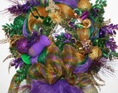 XL Mardi Gras Wreath