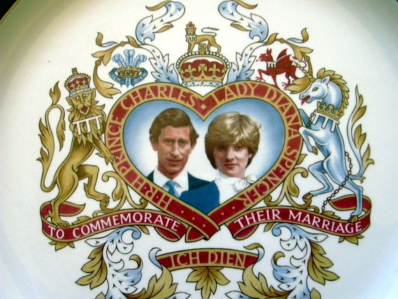 Royal Wedding Marriage Prince Charles Lady Diana Spencer 1981 Vintage Commemorative Plate by Wetherby