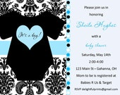 Baby clothes  girl boy baby shower invitation...DIY you print custom photo card by delightfulprints