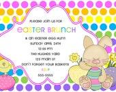 Easter brunch & egg hunt invite...DIY you print custom photo card by delightfulprints